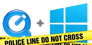 Không nên dùng quicktime for windows