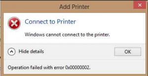lỗi windows cannot connect to the printer 1