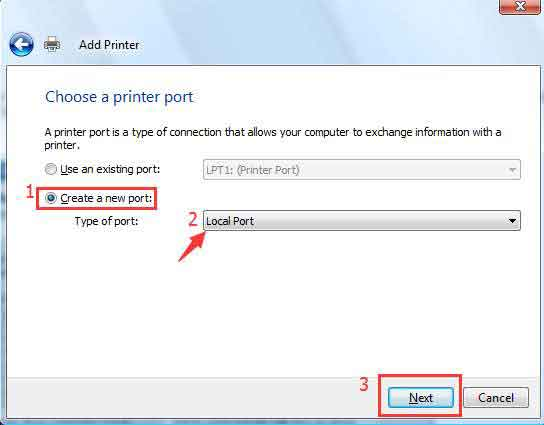 Sửa lỗi Windows cannot connect to the printer với Local Port 4