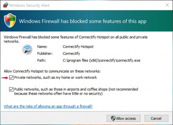 wifihotspot connectify windows security