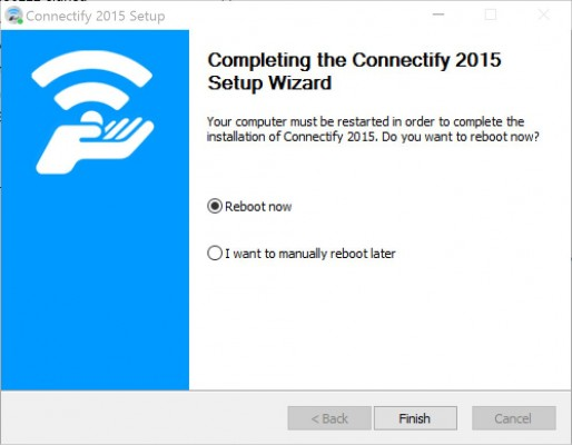 wifihotspot connectify reboot
