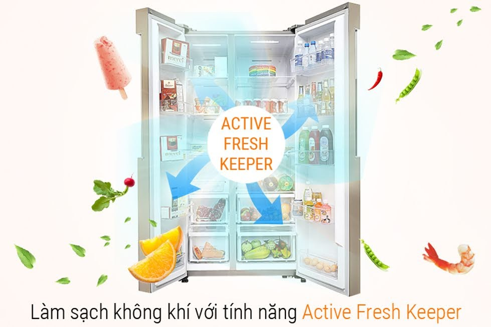 Active Fresh Keeper is integrated in Samsung refrigerators
