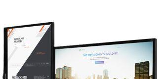 Giá treo màn hình máy tính kép NB F160