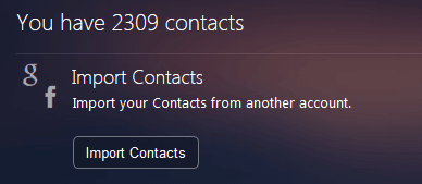 Importing contacts