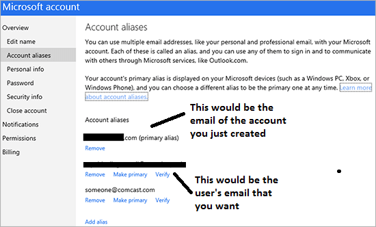 linking account