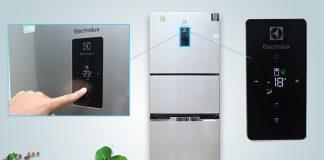 Mẫu tủ tầm trung giờ đây cũng đã có các chi tiết hiện đại như lấy nước từ ngoài, màn hình hiển thị