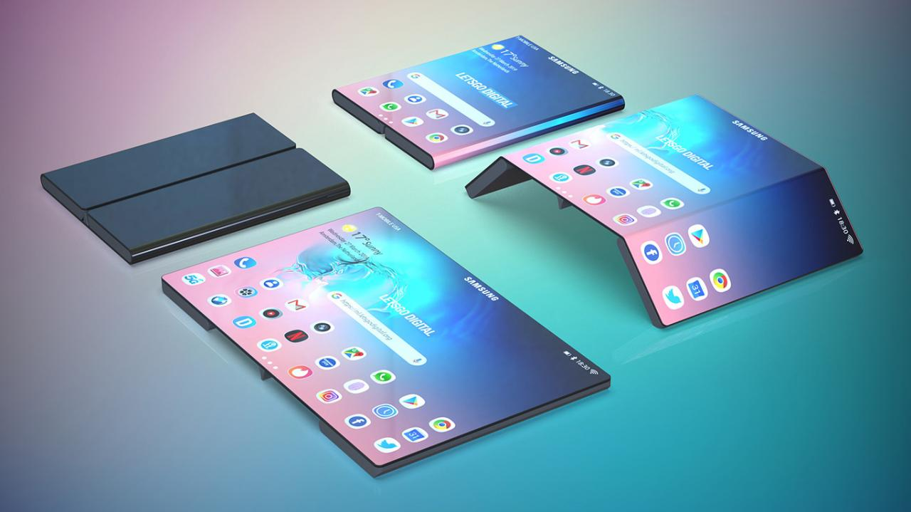 Samsung working on a double-folding smartphone