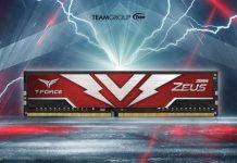 Bộ nhớ chơi game T-FORCE ZEUS DDR4 mới của Teamgroup: tốc độ tới 3200MHz
