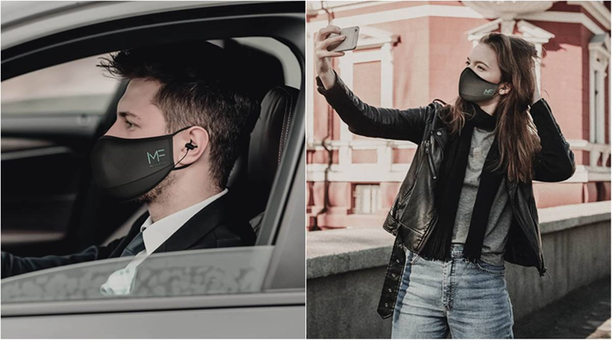 This mask serves the needs of making calls and listening to music safely