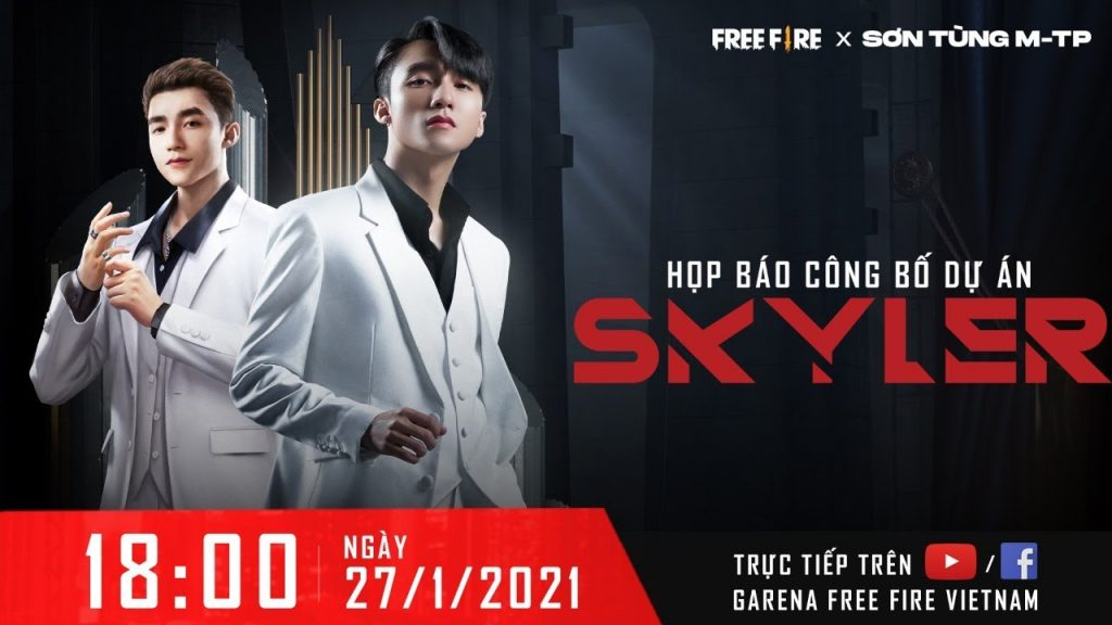 On January 27, 2121, there will be an official press conference to launch the event Free Fire x Son Tung MTP (Internet source)