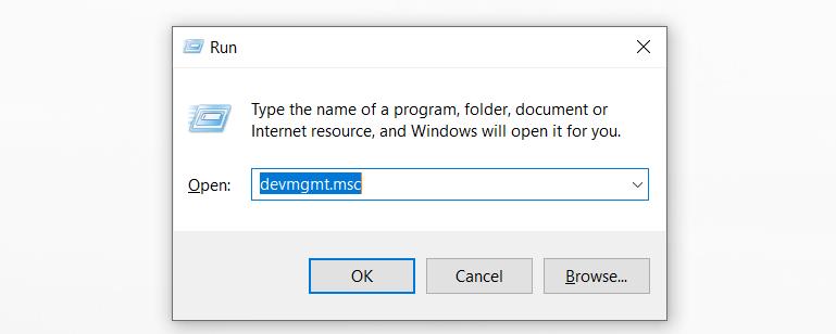 Nhập đúng mã lệnh để update driver