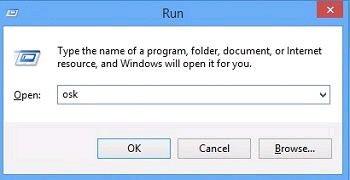 cách mở bàn phím ảo Win7