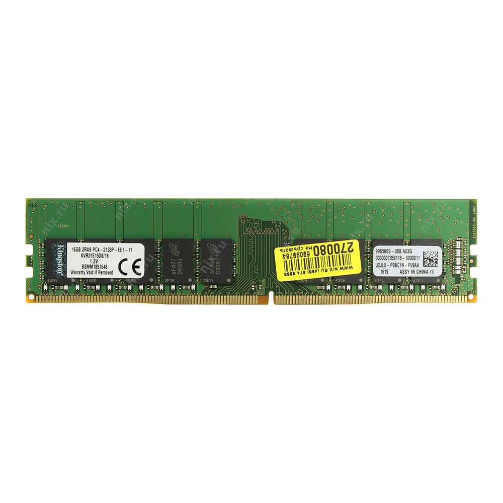Bộ Nhớ Ddr4 Kingston Ecc 16gb (2400) Cl15 (kvr21e15d8/16)