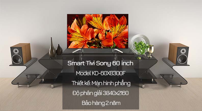 Android Tivi Sony 4K 60 inch KD-60X8300F