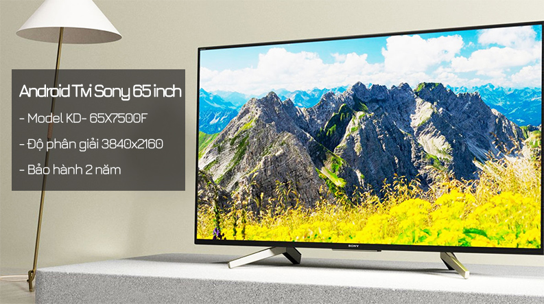 Android Tivi Sony 4K 65 inch KD-65X7500F