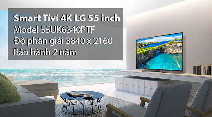 Smart Tivi 4K LG 55 inch 55UK6340PTF