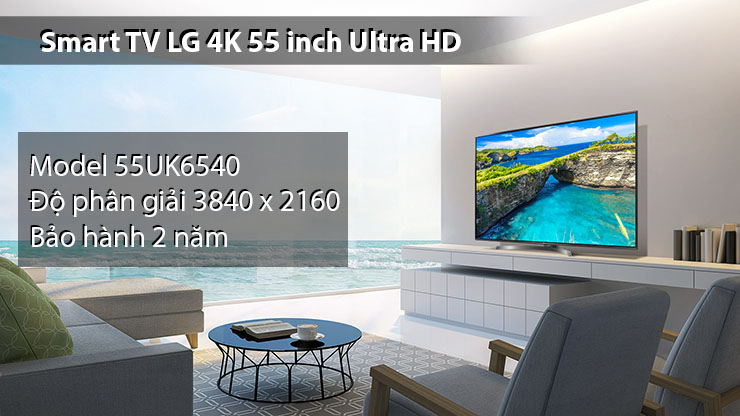 Smart TV LG 4K 55 inch Ultra HD 55UK6540