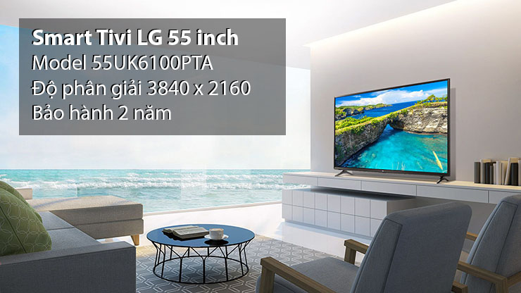 Smart Tivi 4K LG 55 inch 55UK6100PTA
