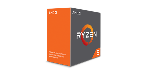 CPU AMD Ryzen 5 1600 3.2 GHz (Up to 3.6GHz) / 6 cores 12 threads / socket AM4