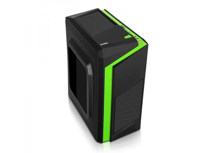 Case SAMA Esport F2 Black - Green